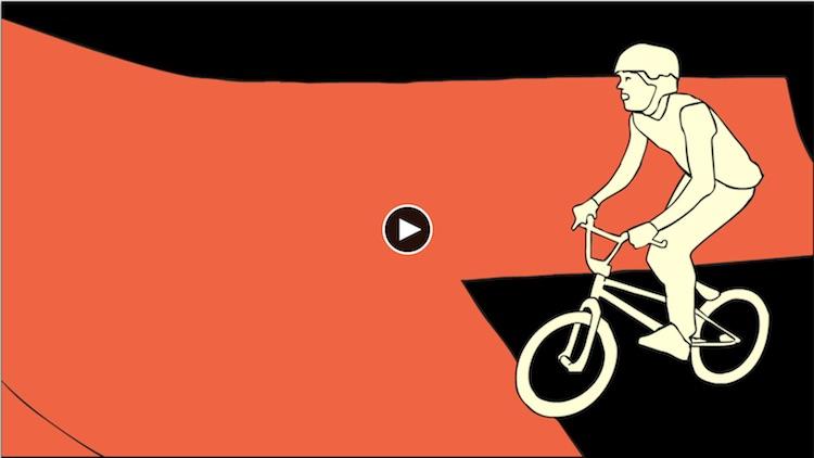 Resolume官方高清素材系列之:SkatePark 手绘滑板/单车运动动画
